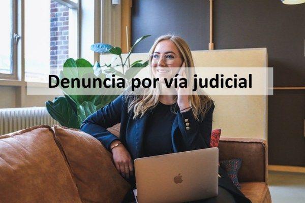 vía judicial